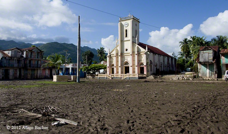 Saint Pierre Church after flooding from Hurricane Sandy, Baraderes, Haiti.