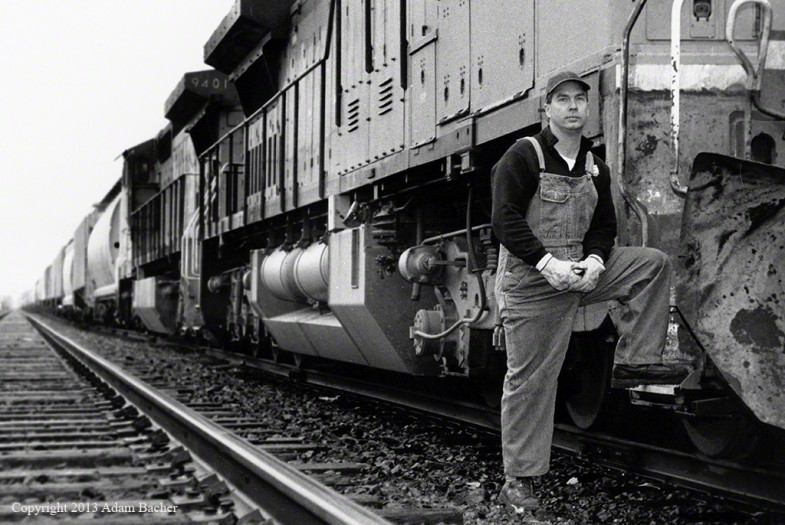Conductor and Train,  ©2013 Adam Bacher