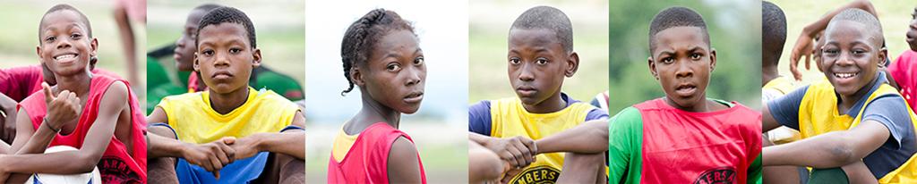 Haiti soccer kids at L'Athlétique d'Haïti