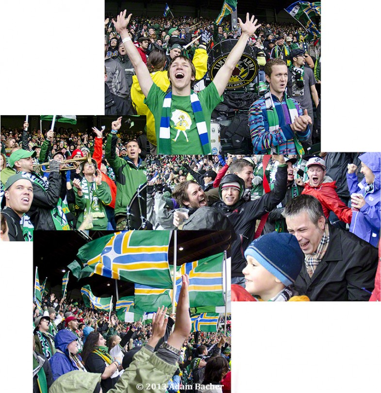 Portland Timbers vs L.A. Galaxy, Soccer match, Timbers Army, Jel