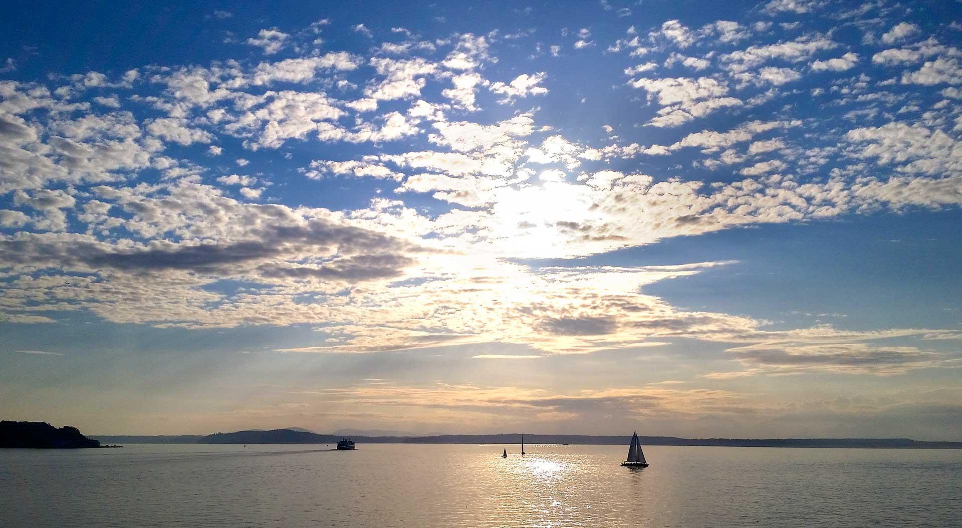 Seattle Sailboat Sunset