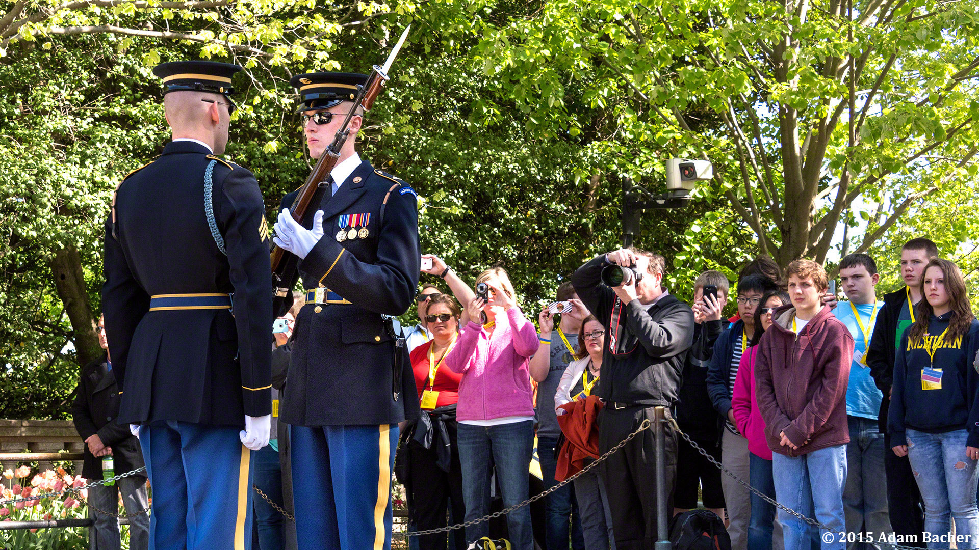 Portland Oregon photographer at Tomb of Unknowns in Arlington National Cemetery