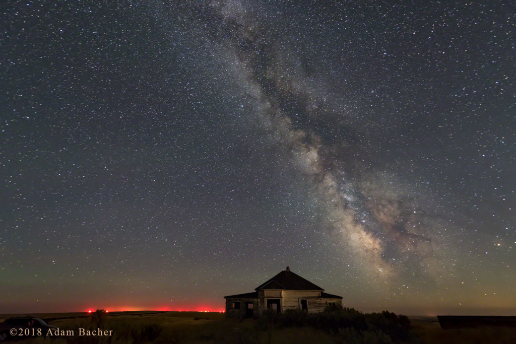 Milky Way and Stars Over Haunted House, Oregon