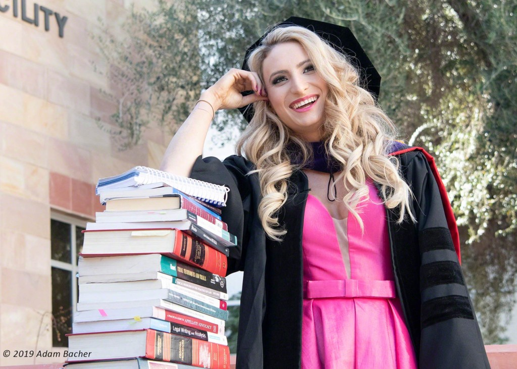 unlv law school graduate with books