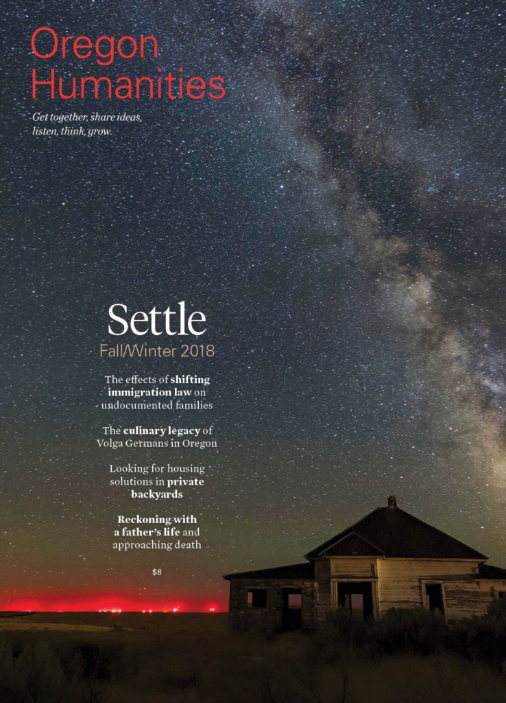 oregon humanities cover - haunted sky with milky way